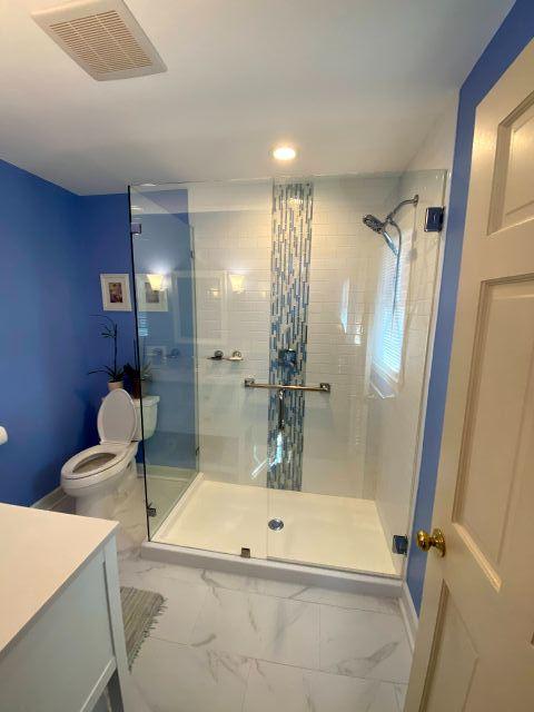full view shower